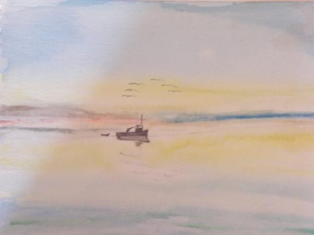 Seascape Fishing boat