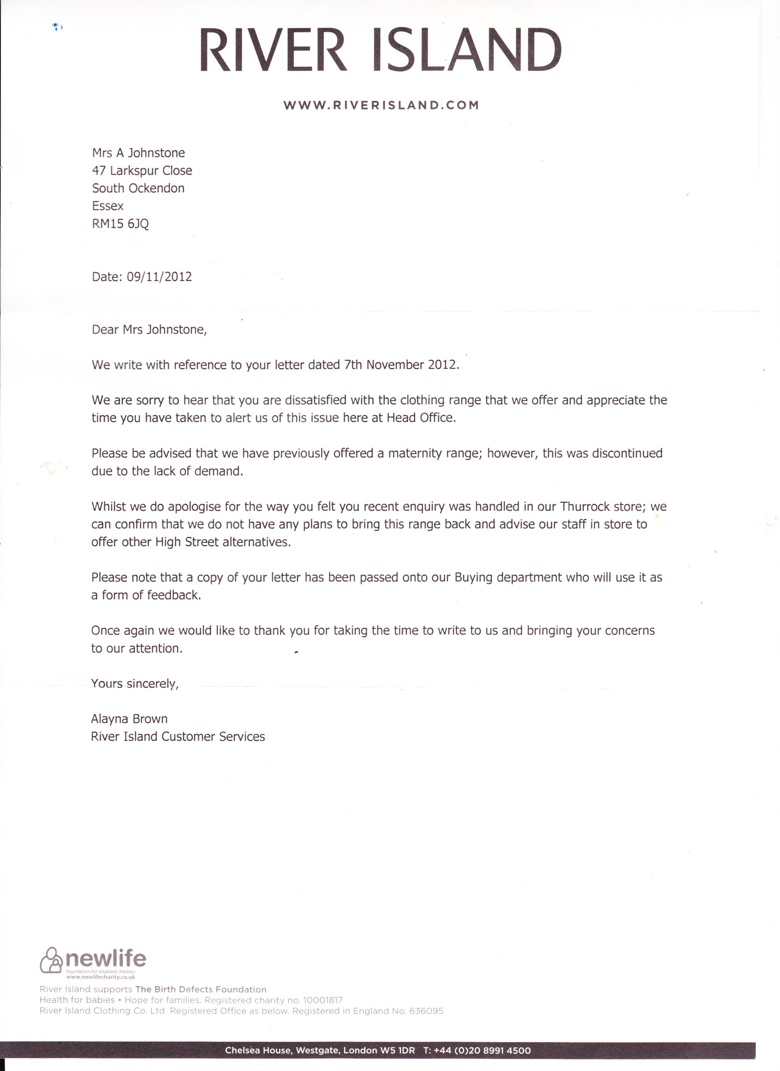 sample maternity leave letter employer